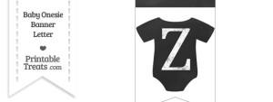 Chalkboard Baby Onesie Shaped Banner Letter Z