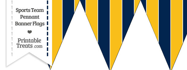 Chargers Colors Pennant Banner Flag