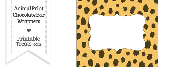 Cheetah Print Chocolate Bar Wrappers