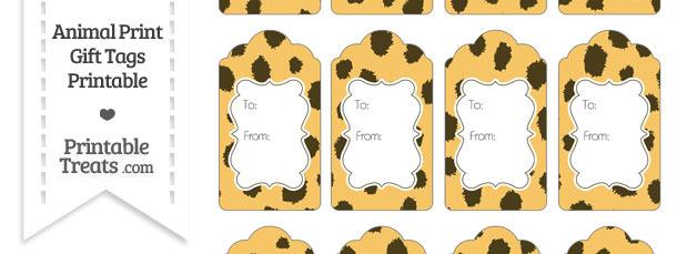 Cheetah Print Gift Tags