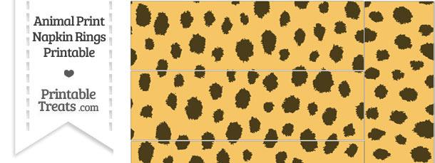 Cheetah Print Napkin Rings