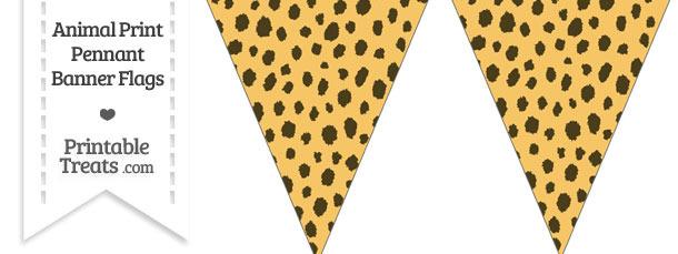 Cheetah Print Pennant Banner Flag