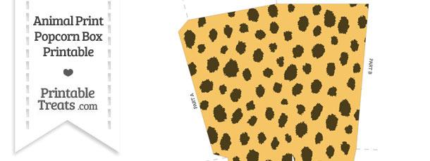 Cheetah Print Popcorn Box