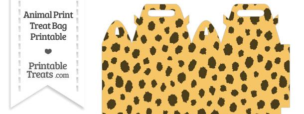 Cheetah Print Treat Bag