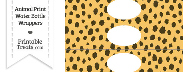 Cheetah Print Water Bottle Wrappers
