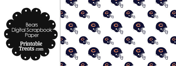 Chicago Bears Football Helmet Digital Paper