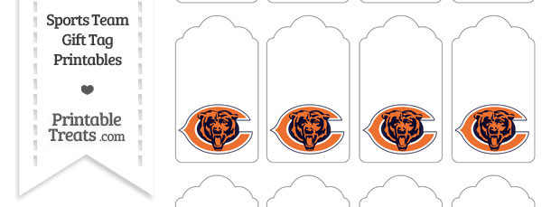 Chicago Bears Gift Tags