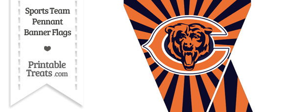 Chicago Bears Mini Pennant Banner Flags