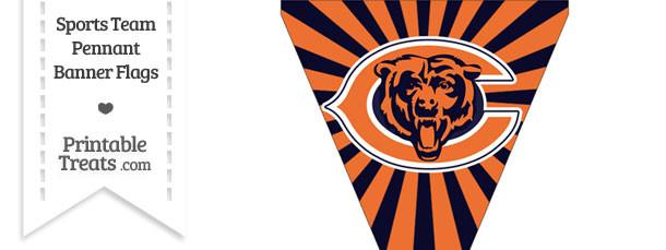 Chicago Bears Pennant Banner Flag