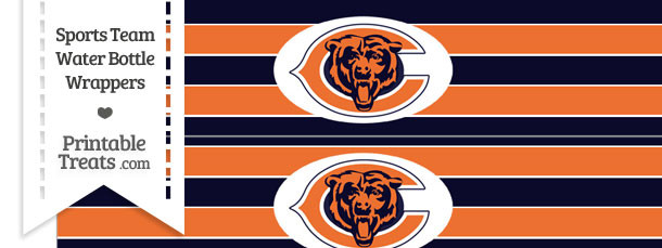 Chicago Bears Water Bottle Wrappers