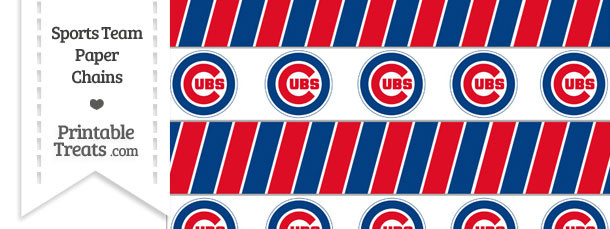 Chicago Cubs Paper Chains