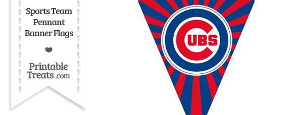 Chicago Cubs Pennant Banner Flag