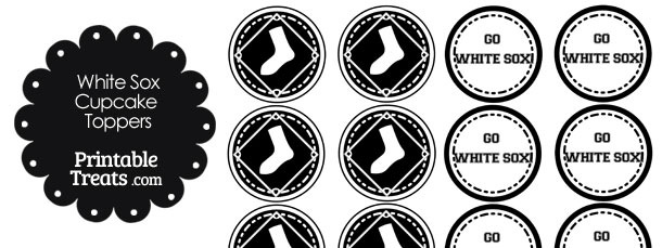 Chicago White Sox Cupcake Toppers