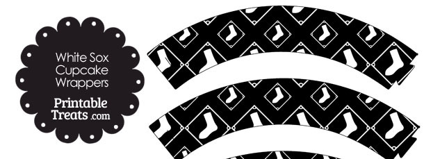 Chicago White Sox Logo Cupcake Wrappers