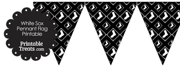 Chicago White Sox Logo Pennant Banners