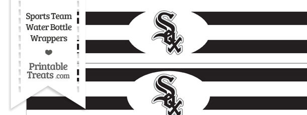 Chicago White Sox Water Bottle Wrappers