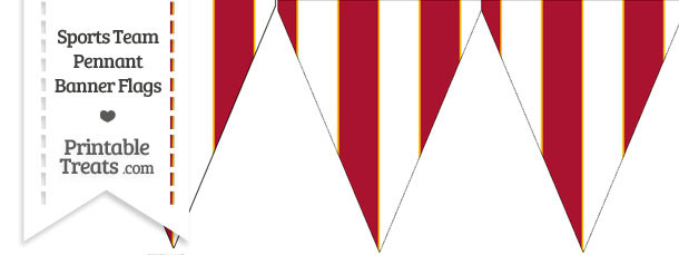 Chiefs Colors Pennant Banner Flag