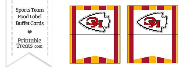 Chiefs Food Label Buffet Cards