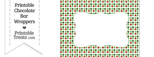 Christmas Dots Chocolate Bar Wrappers