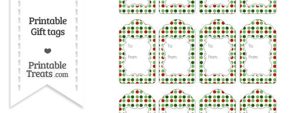 Christmas Dots Gift Tags