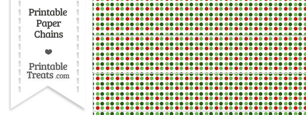 Christmas Dots Paper Chains