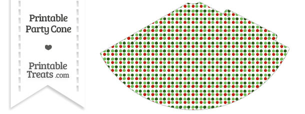 Christmas Dots Party Cone