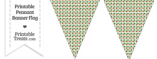 Christmas Dots Pennant Banner Flag