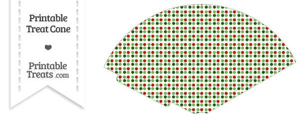 Christmas Dots Treat Cone