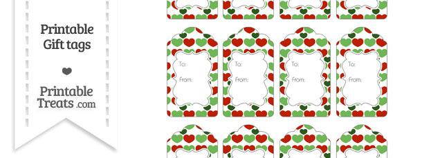 Christmas Hearts Gift Tags