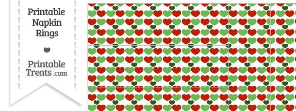 Christmas Hearts Napkin Rings