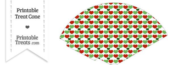 Christmas Hearts Treat Cone