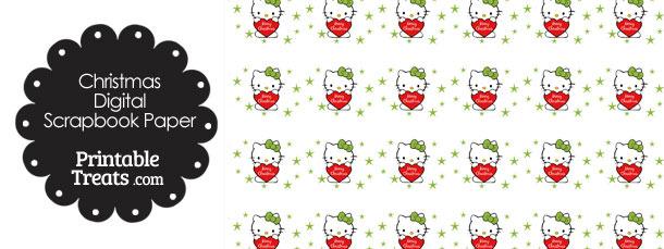 Christmas Hello Kitty Digital Scrapbook Paper