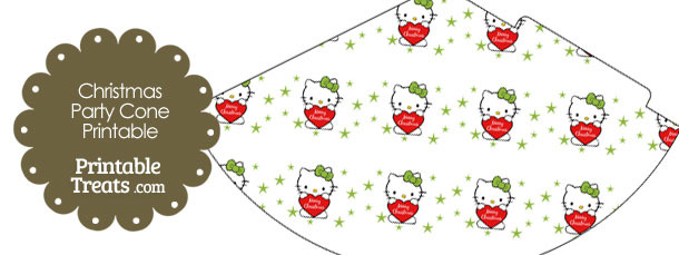 Christmas Hello Kitty Party Cone