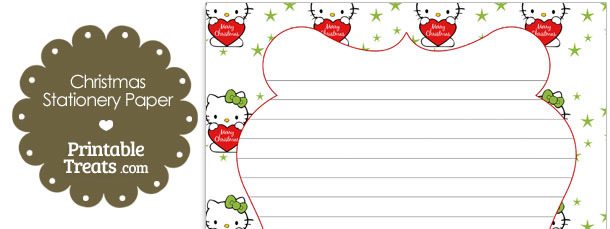 Christmas Hello Kitty Stationery Paper