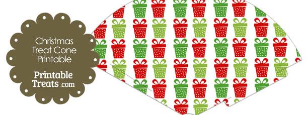 Christmas Presents Printable Treat Cone