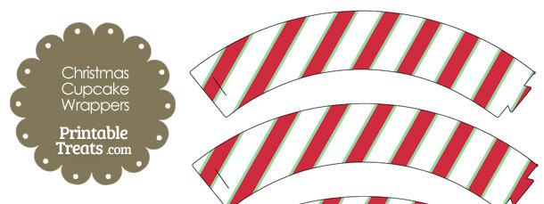 Christmas Stripes Cupcake Wrappers