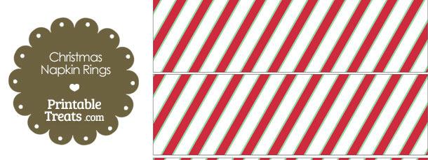 Christmas Stripes Napkin Rings