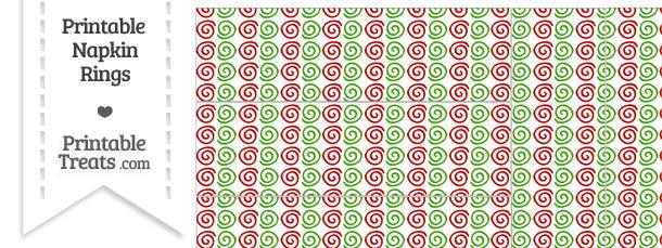 Christmas Swirls Napkin Rings