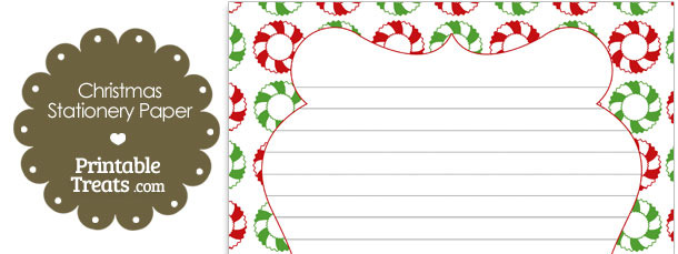 Christmas Wreath Stationery Paper