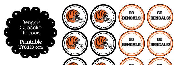 Cincinnati Bengals Cupcake Toppers