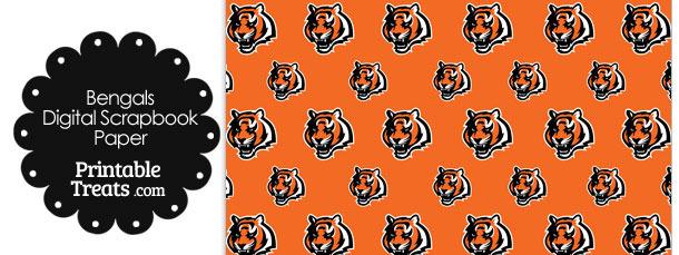 Cincinnati Bengals Logo Digital Paper