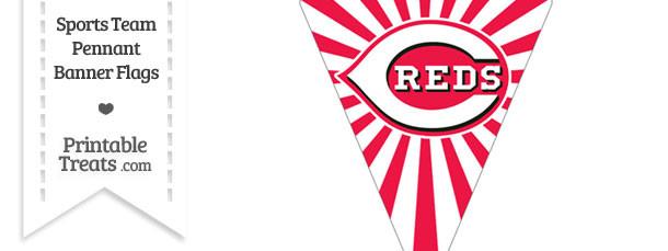 Cincinnati Reds Pennant Banner Flag