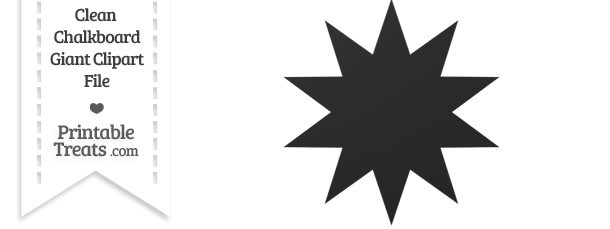 Clean Chalkboard Giant 10 Point Star Clipart