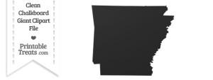 Clean Chalkboard Giant Arkansas State Clipart