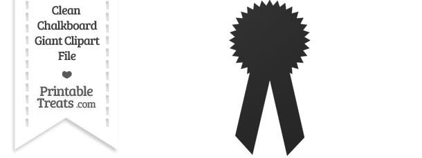 Clean Chalkboard Giant Award Ribbon Clipart