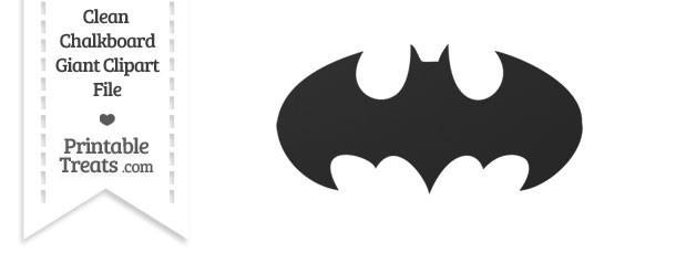 Clean Chalkboard Giant Batman Symbol Clipart