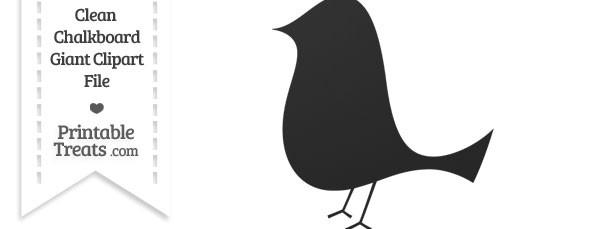 Clean Chalkboard Giant Birdy Clipart