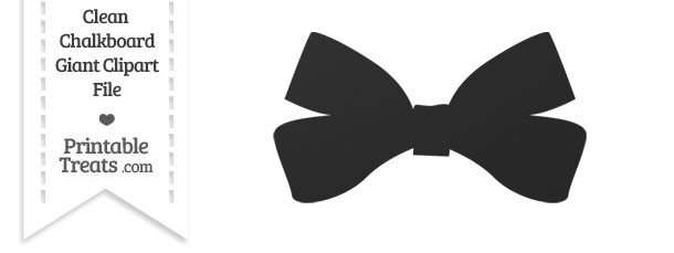 Clean Chalkboard Giant Bow Clipart