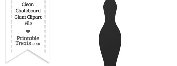 Clean Chalkboard Giant Bowling Pin Clipart