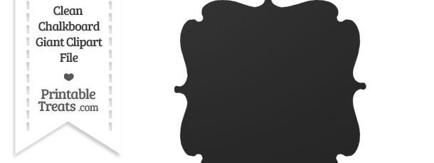 Clean Chalkboard Giant Bracket Frame Clipart